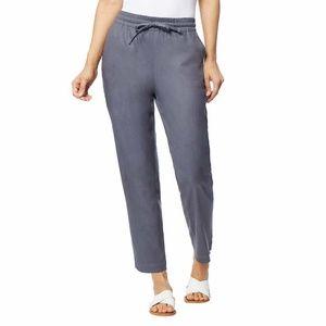 New Stretch Linen Blend Pant Gray Sweatpants